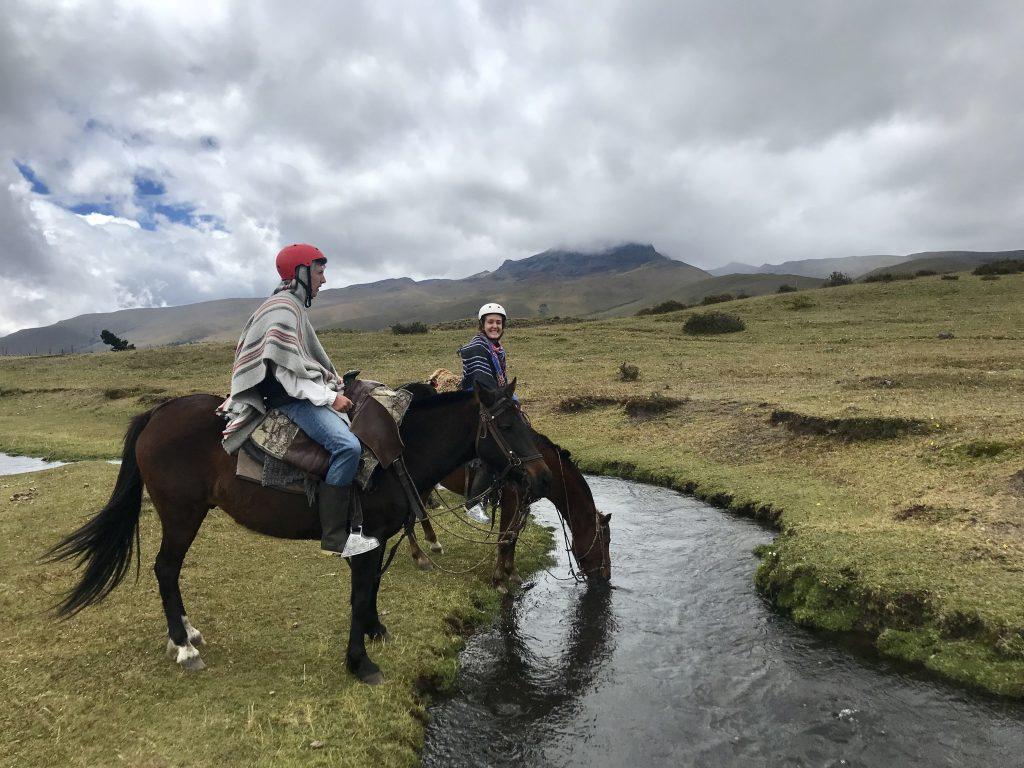 Ecuador Cotopaxi National Park Secret Garden Paardrijden
