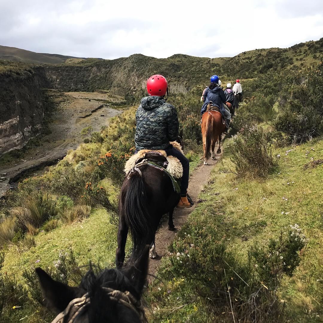 Ecuador Cotopaxi Secret Garden Paardrijden