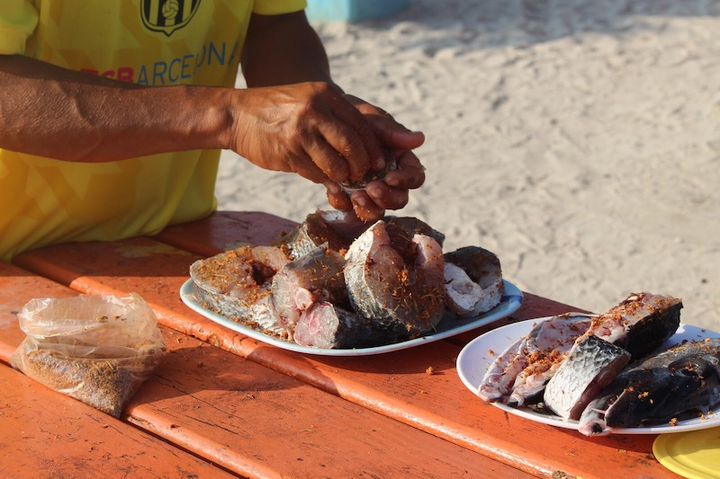 Lustrumreis Belize Caye Caulker Verse Vis