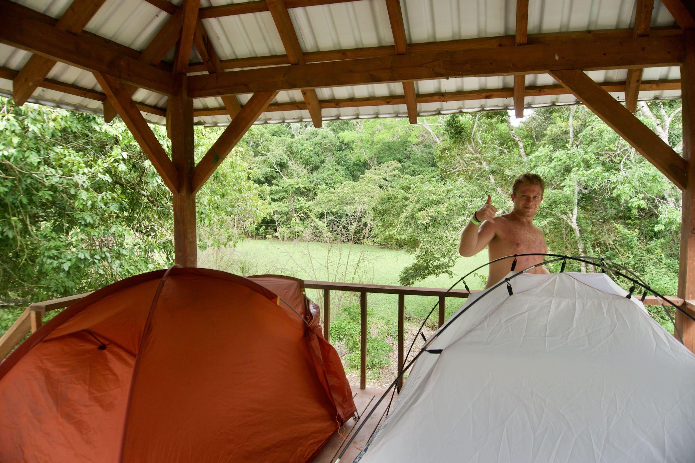 Lustrumreis Guatemala 4x4 Peten Tent Piet