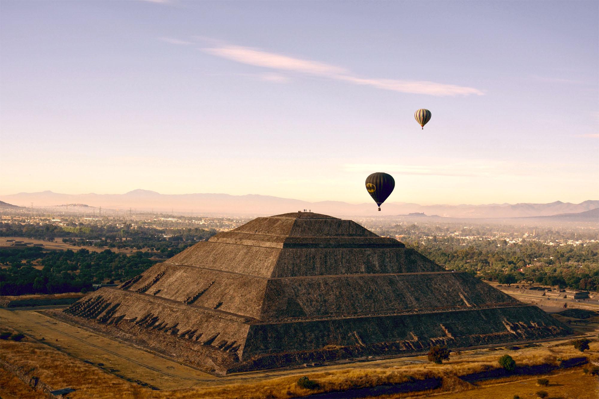 Teotihuacan per luchtballon