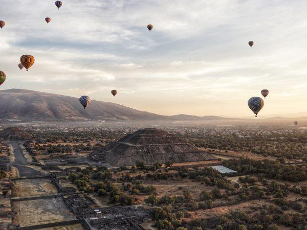 Lustrumreis Mexico Teotihuacán Ballonvaart00001